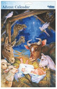 Advent Calendar: Baby Jesus and Animals With Glitter