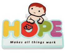 Fridge Magnet: My Angel and Me: Hope Makes All Things Work