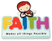 Fridge Magnet: My Angel and Me, Faith Makes All Things Possible