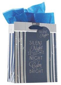 Christmas Gift Bag Medium: Silent Night With Tissue Paper, Gift Tag & Satin Ribbon Handles
