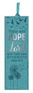Bookmark Luxleather Tassel: Those Who Hope in the Lord, Will Find New Strength, Blue/Silver (Isaiah 40:31)