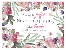 Large Glass Cutting Board: Always Be Joyful, Floral