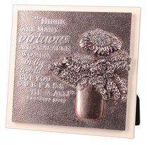 Plaque Moments of Faith Sculpture: Virtuous Woman, Small Square (Psalm 20:4)