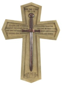 Wall Cross: Word of God Sword Large (36cm X 26cm)