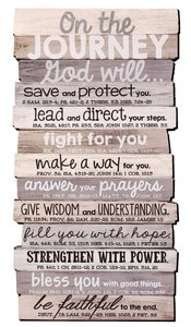 Stacked Wood Plaque: Journey, Medium Wall (Various Scriptures)