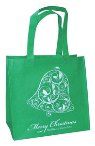 Christmas Eco Tote Bag Glitter: Merry Christmas Bell