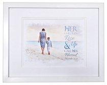 Medium Framed Print: Her Children Rise Up, Boy, Proverbs 31:28
