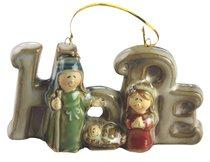 Porcelain Holy Family Tree Ornament Colour Glazed: Hope