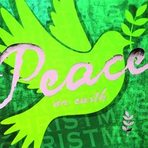 Christmas Boxed Cards Green Dove, Peace on Earth