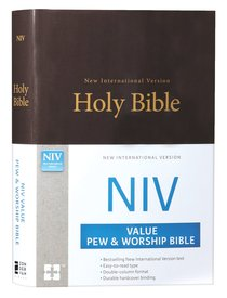 NIV Value Pew and Worship Bible Brown (Black Letter Edition)