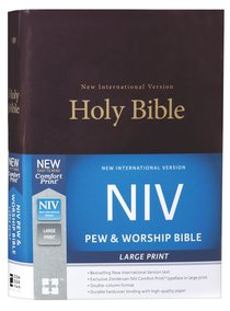NIV Pew and Worship Bible Large Print Burgundy (Black Letter Edition)