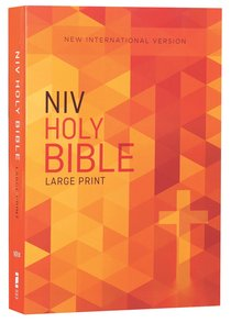 NIV Outreach Bible Large Print Orange Cross (Black Letter Edition)