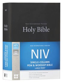 NIV Single-Column Pew and Worship Bible Large Print Black (Black Letter Edition)