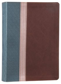 NLT Beyond Suffering Study Bible Teal/Rose Gold/Brown (Black Letter Edition)