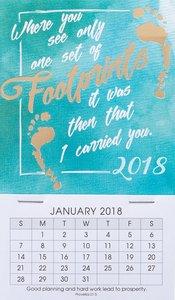 2018 Mini Magnetic Calendar: Footprints
