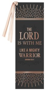 Bookmark With Tassel: The Lord is With Me....Black/Gold