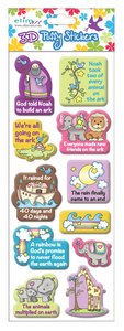 Puffy Stickers: Noahs Ark (1 Sheet Per Pack)