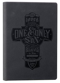 Engraved Journal: For God So Loved the World.... Dark Grey (John 3:16)