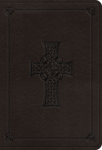 ESV Value Large Print Compact Bible Charcoal Celtic Cross Design (Black Letter Edition)
