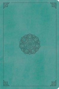 ESV Value Compact Bible Turquoise Emblem Design
