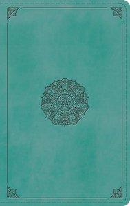 ESV Thinline Bible Turquoise Emblem Design