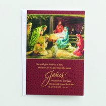 Christmas Boxed Cards: She Will Give Birth (Matthew 1:21 Niv)