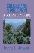 Colossians & Philemon- Jensen Bible Self Study Guide (Self-study Guide Series)