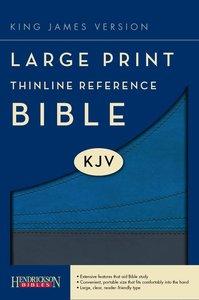KJV Large Print Thinline Reference Bible Slate/Blue (Red Letter Edition)