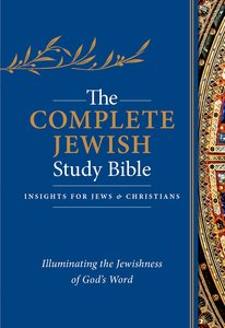 Complete Jewish Study Bible, the Indexed Blue Flexisoft With Gold Lettering
