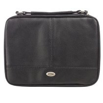 Bible Cover Small Two-Fold Luxleather Organizer Black