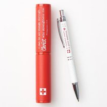 Stylish Pen/Case Gift Set: I Can Do All Things... Phil 4:13 (Red/white Pen Barrel)
