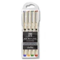 Veritas Micro-Line Color Pens 4 Set (Black, Blue, Green & Red)
