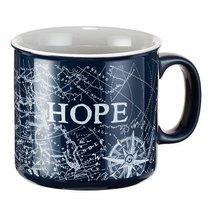 Ceramic Mug: Travel Range, Hope/Compass (Dark Blue/white)