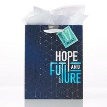 Gift Bag Medium: Graduation, Hope & Future Navy/Light Blue (Jer 29:11)