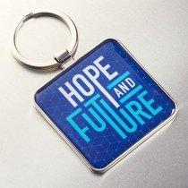 Metal Keyring: Graduation, Hope & Future Navy/Light Blue (Jer 29:11)