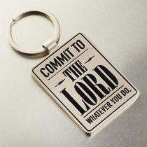 Metal Keyring: Graduation, Commit to the Lord... (Prov 16:3)