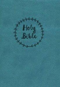NKJV Compact Large Print Reference Bible Blue
