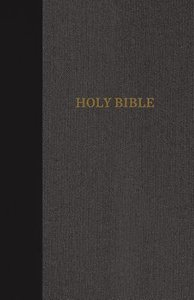 KJV Thinline Bible Large Print Black/Gray (Red Letter Edition)
