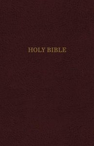 KJV Reference Bible Super Giant Print Burgundy (Red Letter Edition)