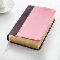 KJV Giant Print Bible Pink/Brown Red Letter Edition