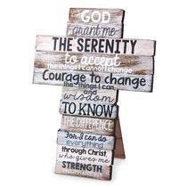 Stacked Wood Cross: Serenity, Medium (Phil 4:13)