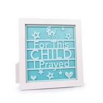 Plaque: For This Child I Prayed Aqua (1 Samuel 1:27)