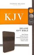 KJV Deluxe Gift Bible Gray Red Letter