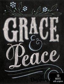 Blank Note Cards: Grace & Peace Chalk (1 Thess 1:1 Nlt)