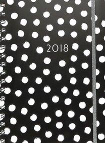 2018 Planner: Black Polka Dots 16-Month/Weekly Planner