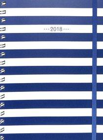 2018 Planner: Navy Stripe 16-Month/Weekly Planner