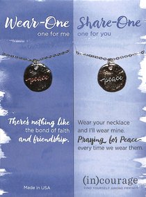 Necklace Wear-One-Share-One: Peace, John 14:27 ((In)courage Gift Product Series)