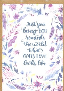 Greeting Card Pack: Just You, Bright Floral, Scripture Inside Cover 1 John 4:19 ((In)courage Gift Product Series)