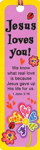 Bookmark With Beaded Tassel: Jesus Loves You!