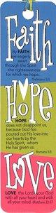 Bookmark With Beaded Tassel: Faith, Hope, Love